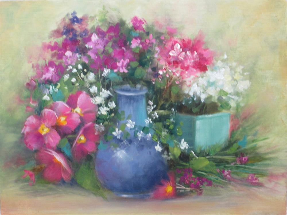 """My Favorite Blue Vase"" original fine art by Barbara Wagner"