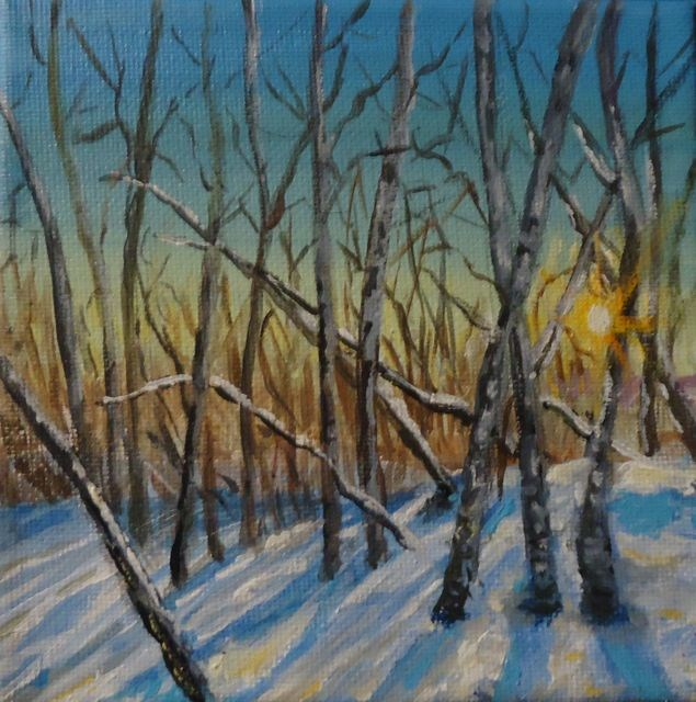 """Early Morning, December"" original fine art by Jackie Irvine"