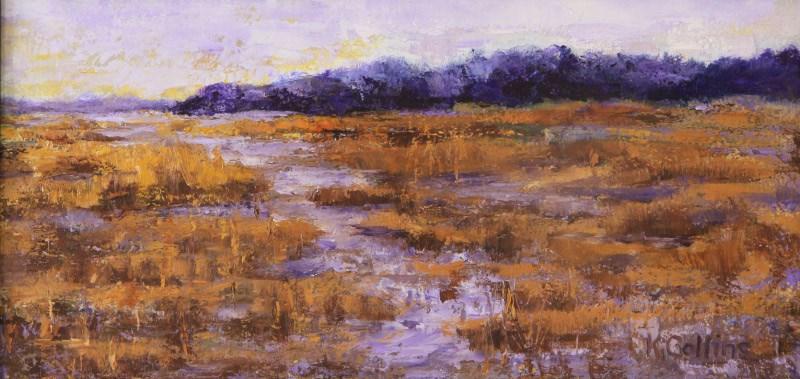 """Purple Marsh"" original fine art by Kathy Collins"
