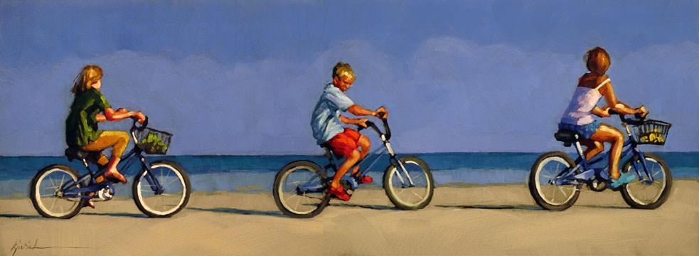 """""""Biker Gang"""" original fine art by Karin Jurick"""