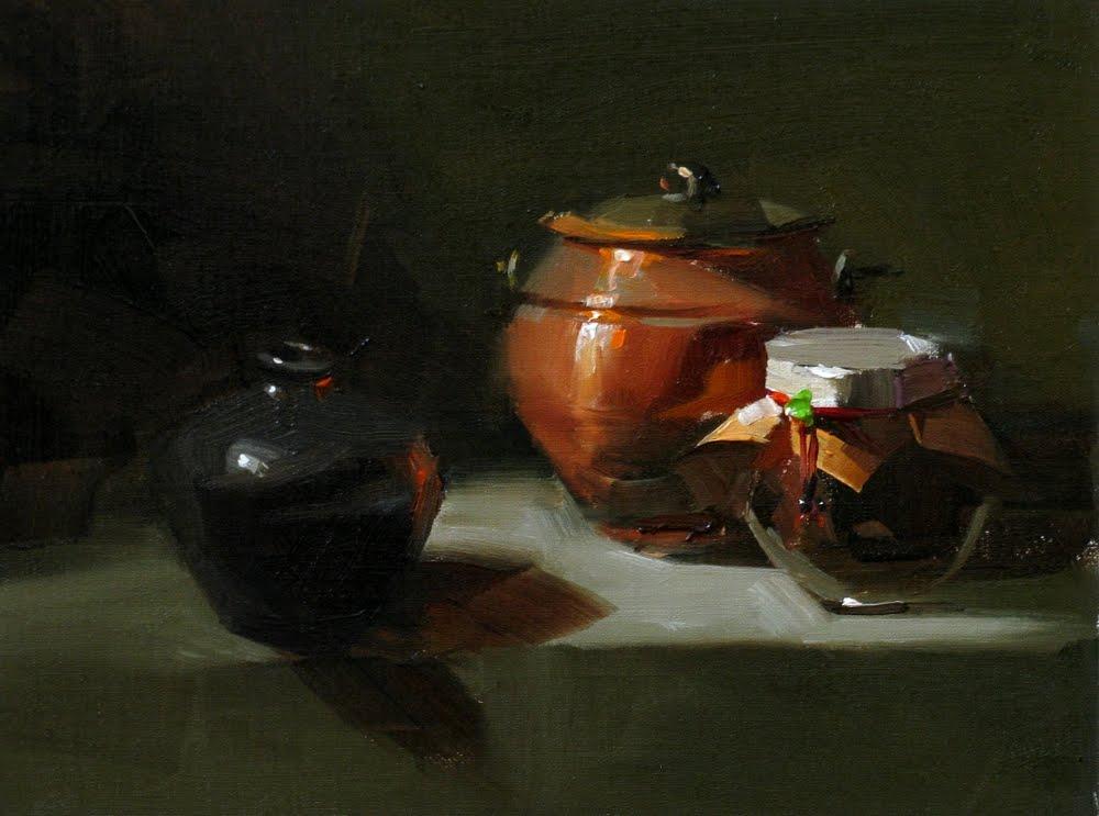 """Three Stooges"" original fine art by Qiang Huang"