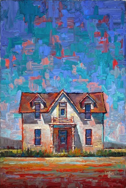"""Enos Farm House-The Front"" original fine art by Raymond Logan"