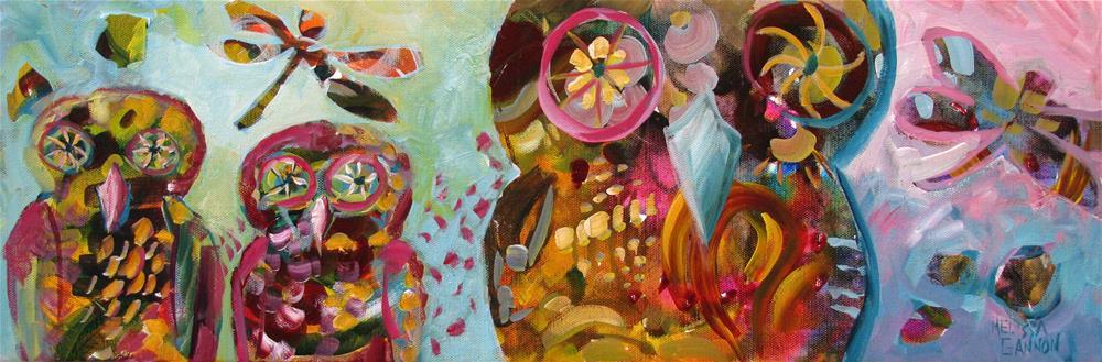 """Owl & Owlets"" original fine art by Melissa Gannon"
