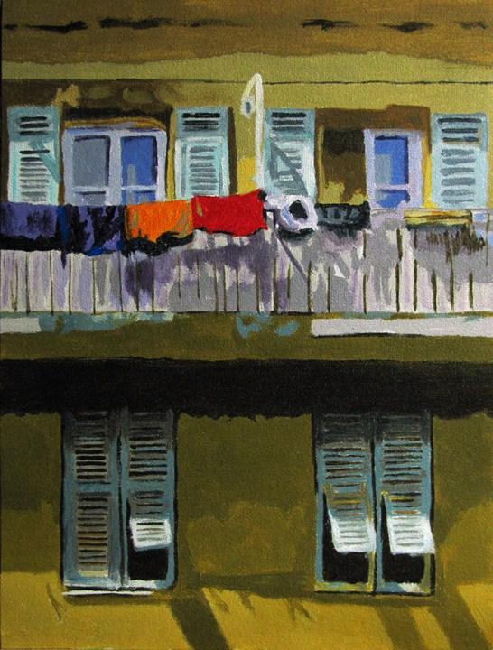 """Windows & Wash"" original fine art by Nan Johnson"