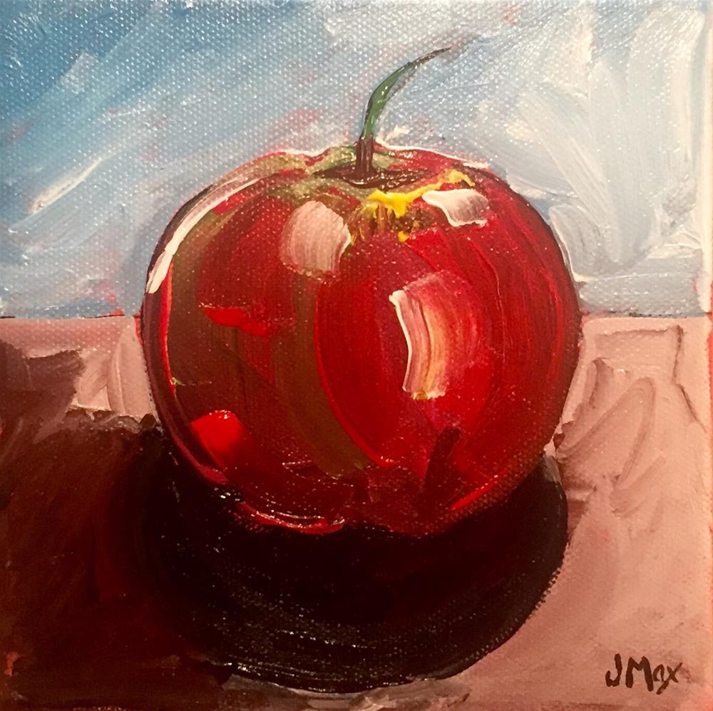 """Apple"" original fine art by Jennifer Maximenko"