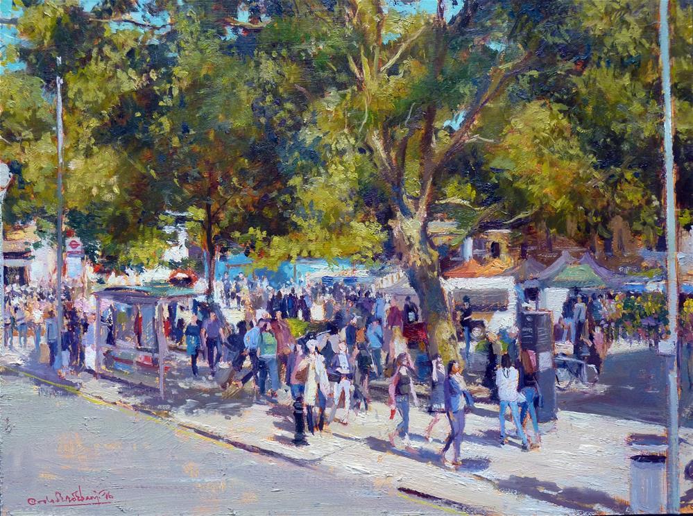 """""""Summer Shadows, Duke of York Square"""" original fine art by Adebanji Alade"""