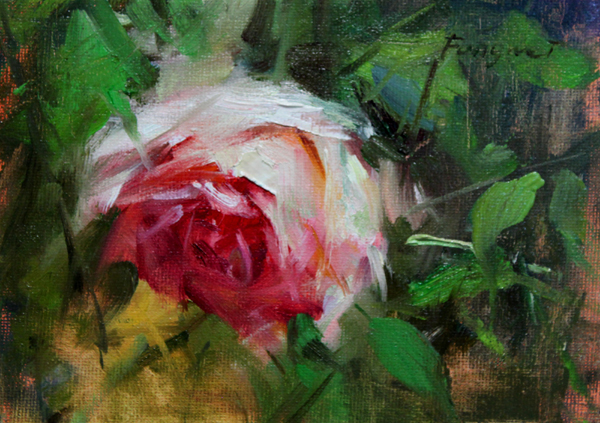 """Rose 2"" original fine art by Fongwei Liu"