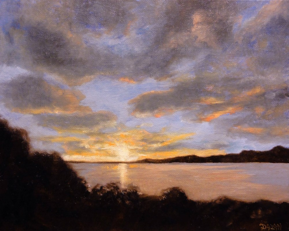 """Sunrise"" original fine art by Dalan Wells"