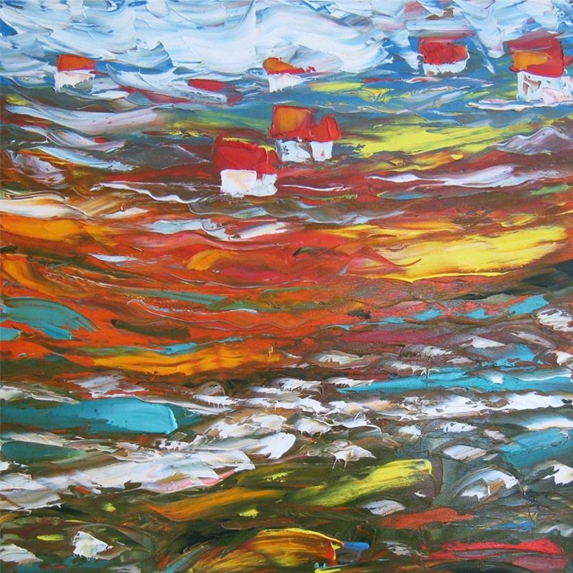 """White river"" original fine art by Elena Lunetskaya"
