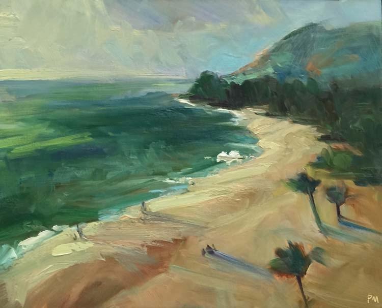 """Almost Sunset"" original fine art by Patti McNutt"