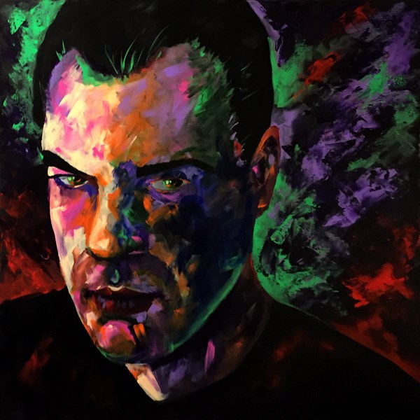 """Mark Adam Webster - Self Portrait"" original fine art by Mark Webster"