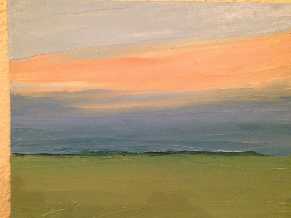 """SUNSET ORANGE AND BLUE"" original fine art by Marie O' Higgins"