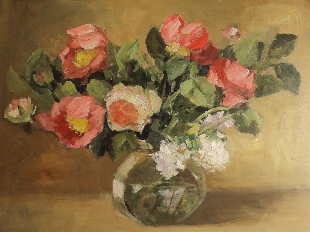 """May flowers"" original fine art by Parastoo Ganjei"