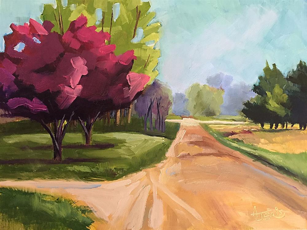 """Spring Road"" original fine art by Andrea Jeris"