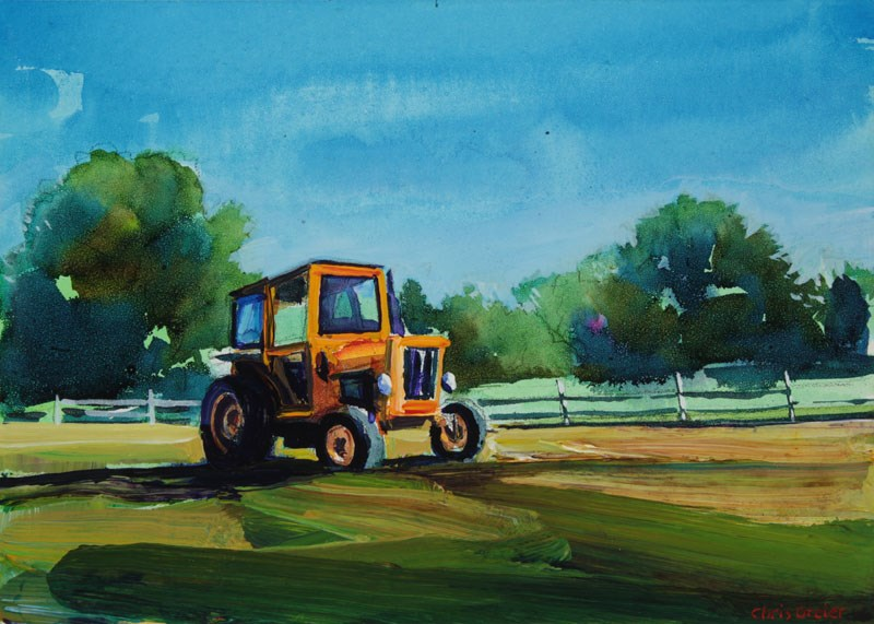 """Tractor II"" original fine art by Chris  Breier"