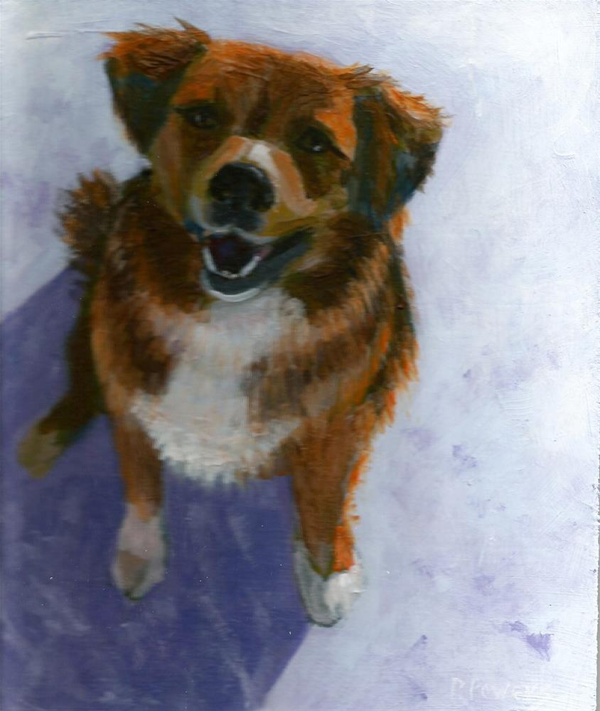 """Teddy"" original fine art by Patricia J. Powers"