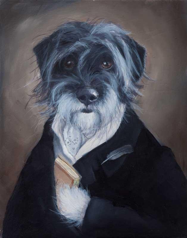 """Sir Tyler Foote and New Calendar!"" original fine art by Clair Hartmann"