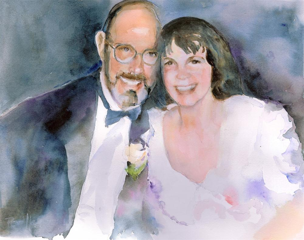 """VICKI AND KENT"" original fine art by Reveille Kennedy"