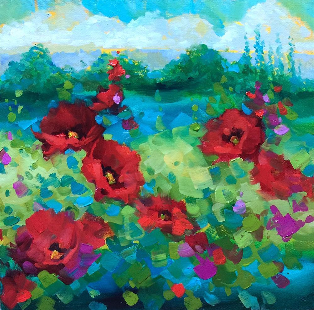 """Endless Summer Poppies - Italy 2016 - Nancy Medina Art"" original fine art by Nancy Medina"