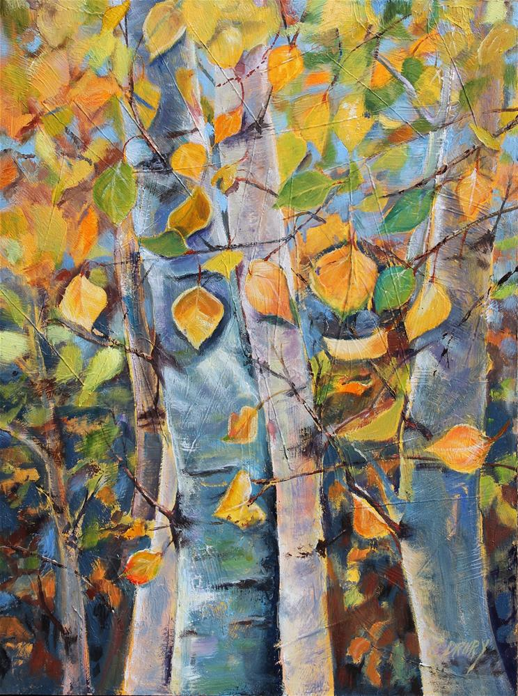 """Quaking Aspens"" original fine art by Colleen Drury"
