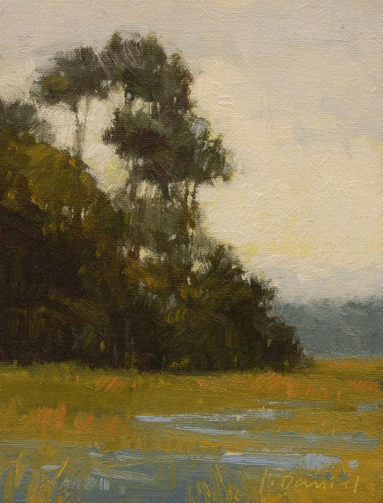 """Misty Marsh"" original fine art by Laurel Daniel"