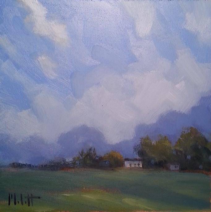 """Big Sky Landscape Homestead Impressionism Original Oil Painting"" original fine art by Heidi Malott"