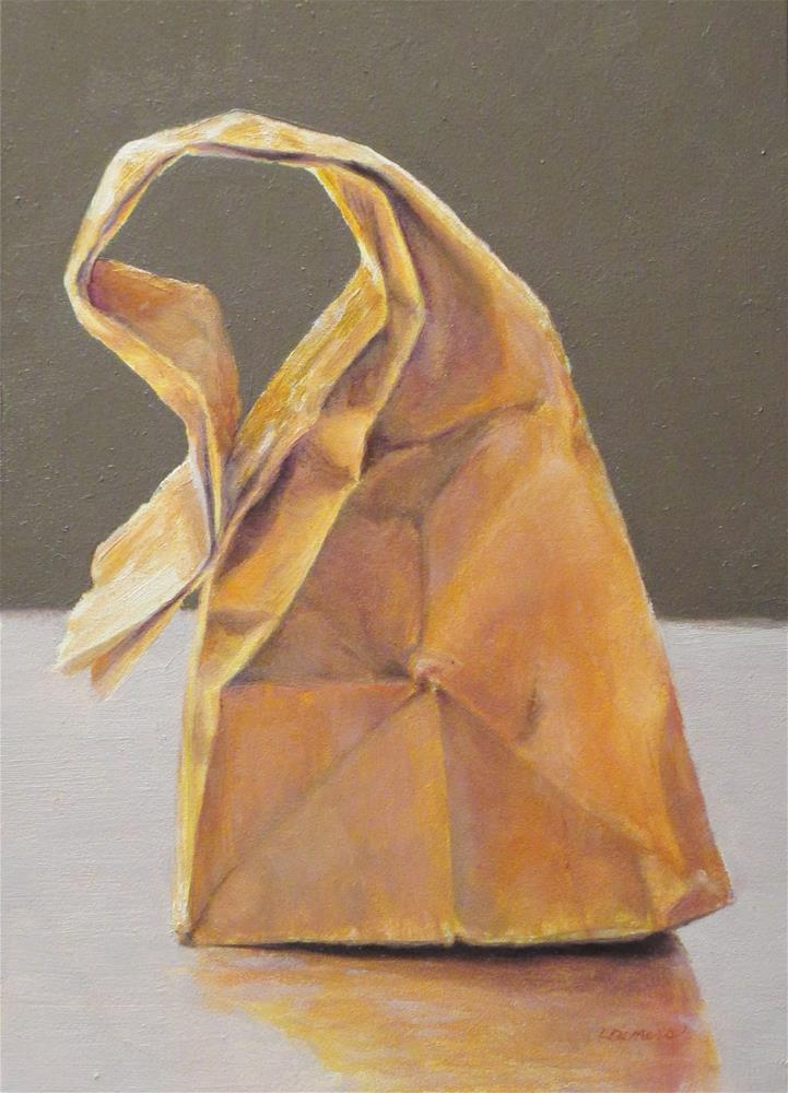 """Brown Bag Lunch"" original fine art by Linda Demers"