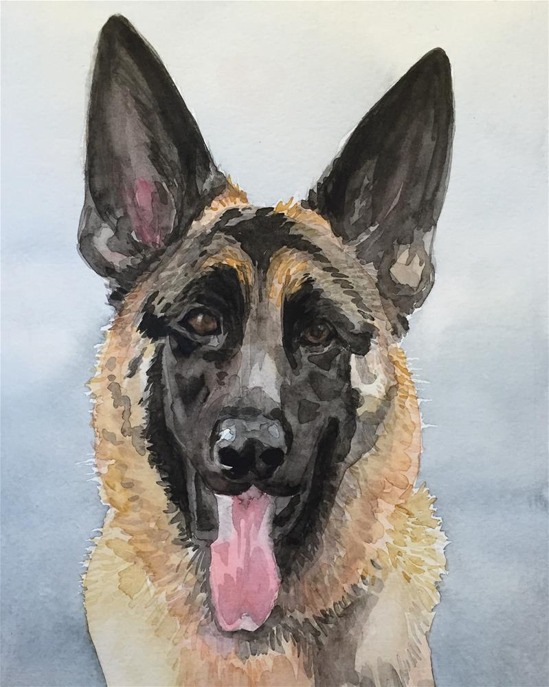 """Klaus"" original fine art by Cindy McDonough"
