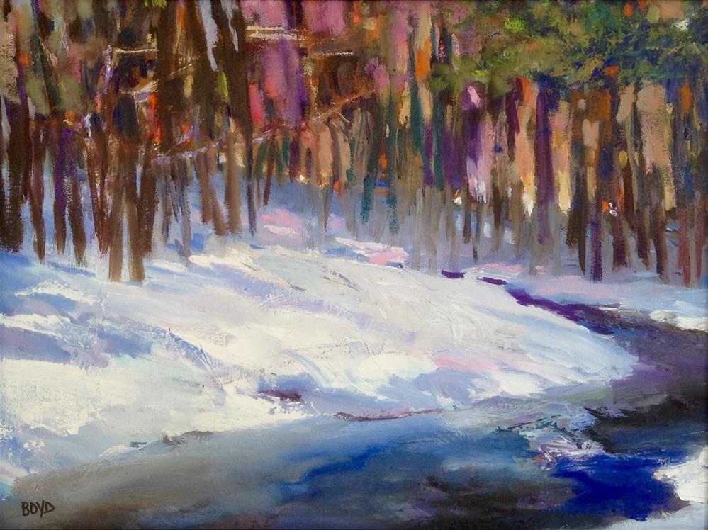 """""""Winter River"""" original fine art by Cathy Boyd"""