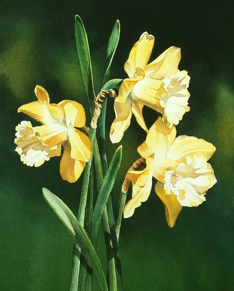 """Happy Spring!"" original fine art by Jacqueline Gnott, whs"