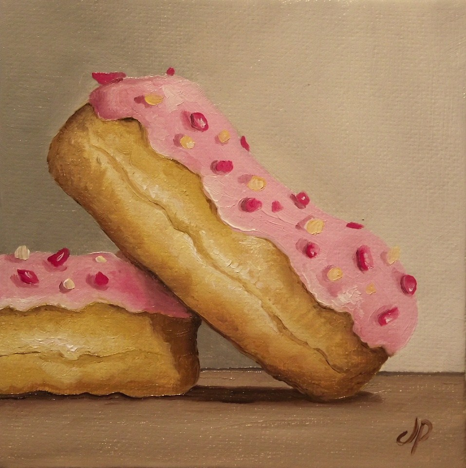 """Doughnuts"" original fine art by Jane Palmer"