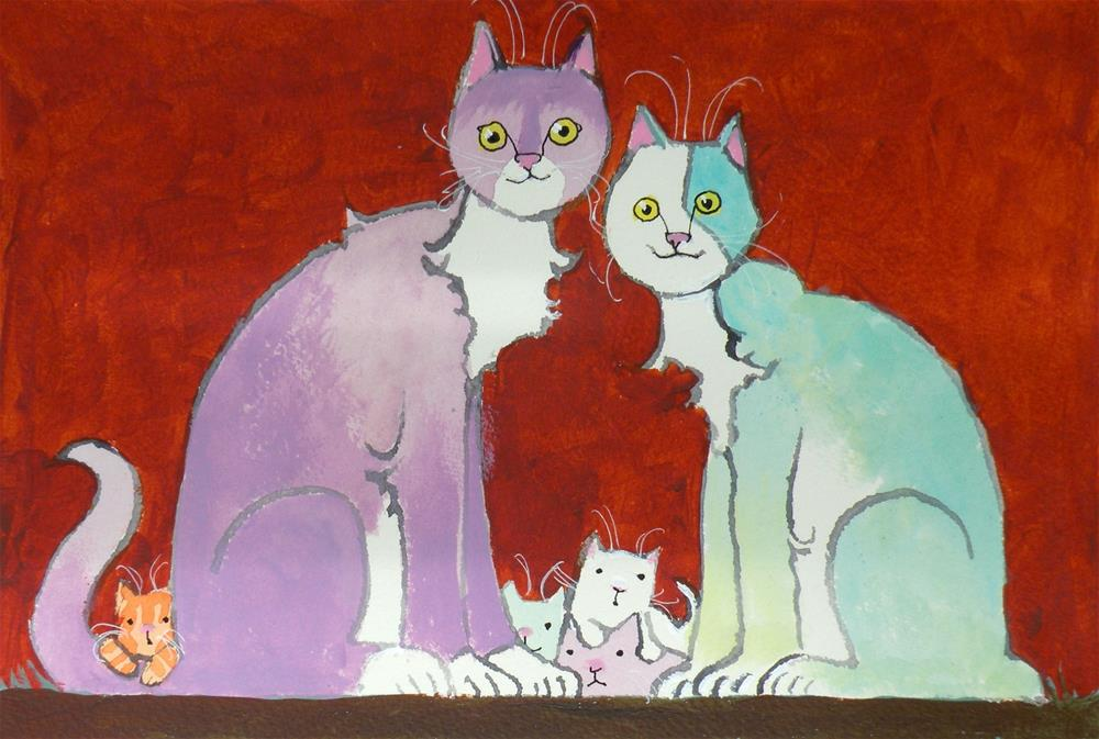 """Family Time"" original fine art by Toni Goffe"