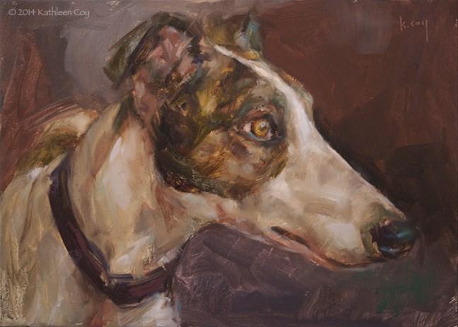 """""""37 - Greyhound"""" original fine art by Kathleen Coy"""