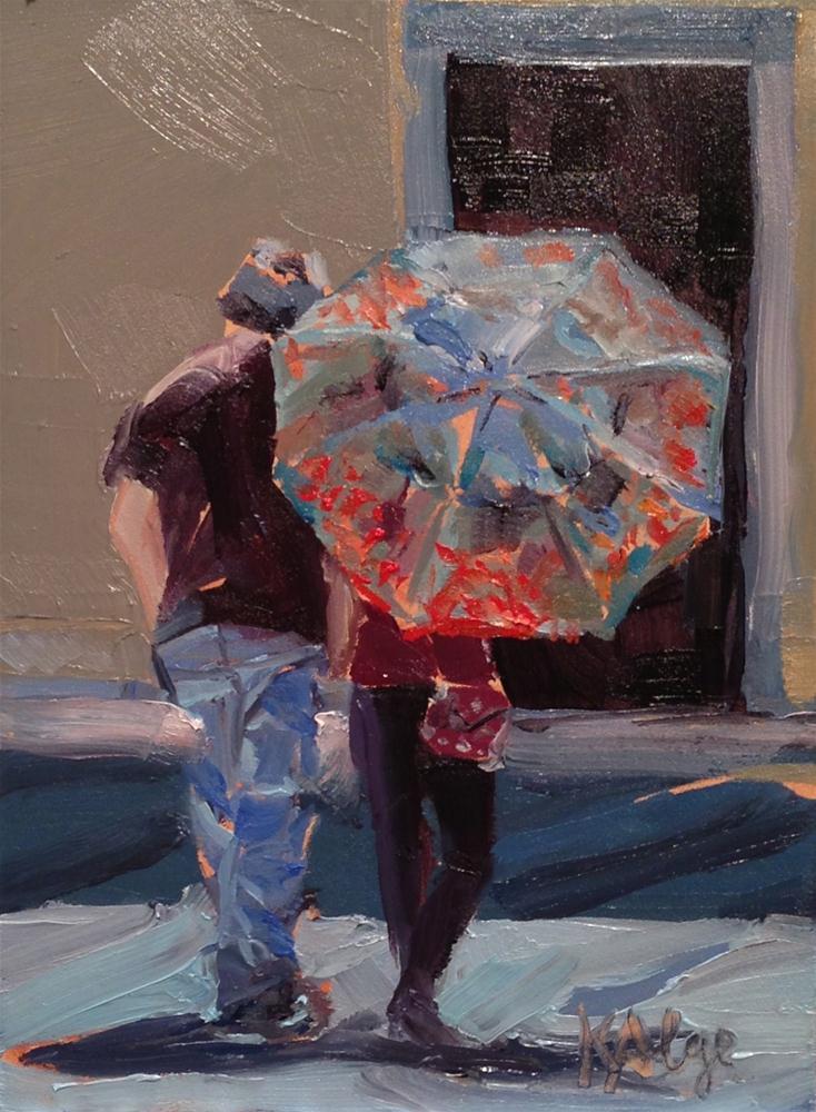 """""""Walking Away"""" original fine art by Kelly Alge"""