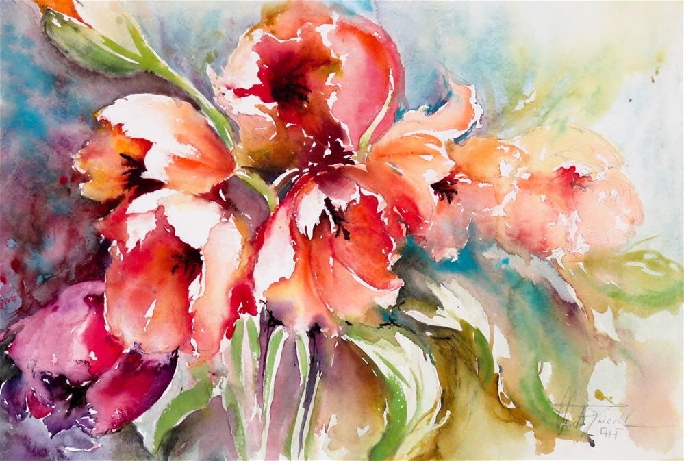 """Welcome Spring"" original fine art by Christa Friedl"