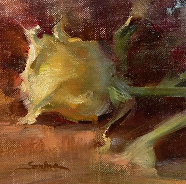 """Rose in Warm Light"" original fine art by Scott Serafica"