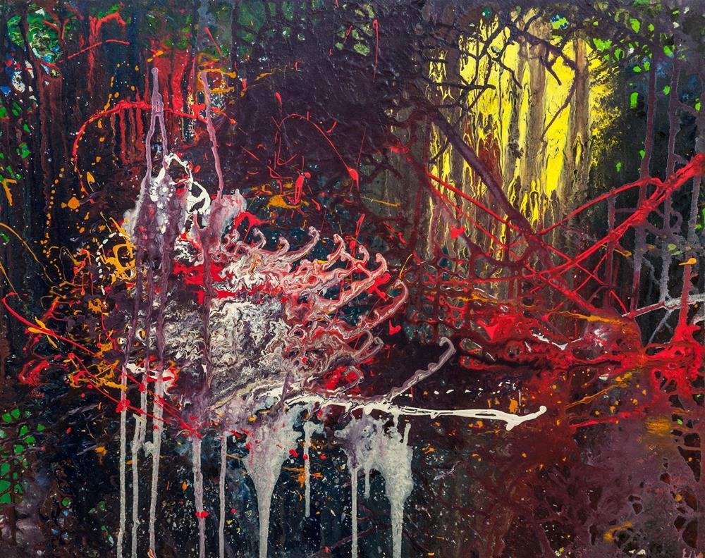 """Red Dragon with Curious Mindset"" original fine art by Zuzana Petrakova"