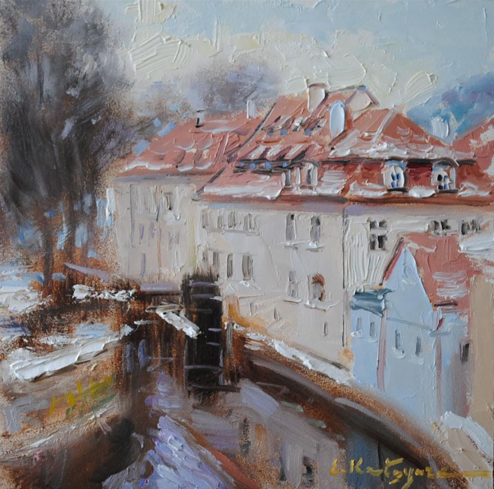 """Water Mill"" original fine art by Elena Katsyura"