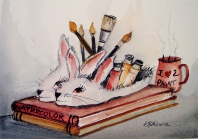 """My Winter Friends"" original fine art by Kathy Los-Rathburn"