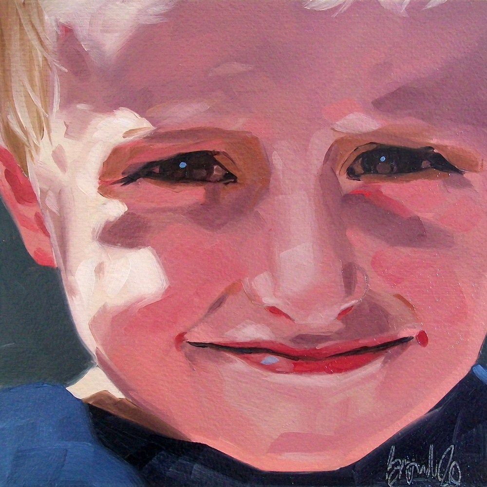 """Boy 3"" original fine art by Brandi Bowman"