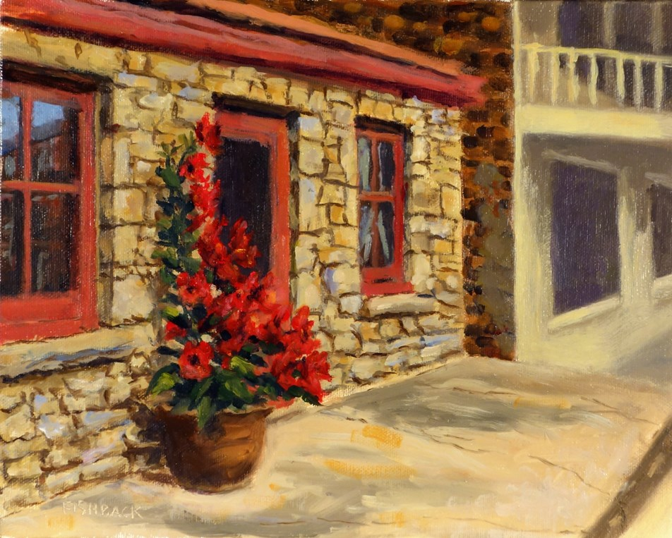 """Red Mandevilla"" original fine art by Daniel Fishback"