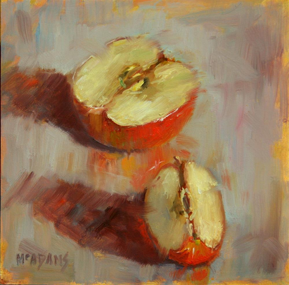 """Apple Slice"" original fine art by Phyllis McAdams"