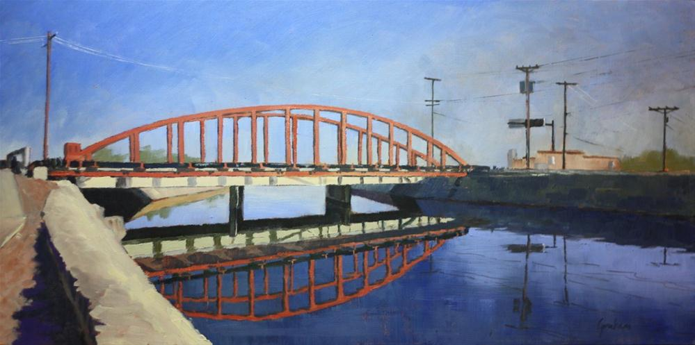 """Arizona Canal"" original fine art by Graham Townsend"