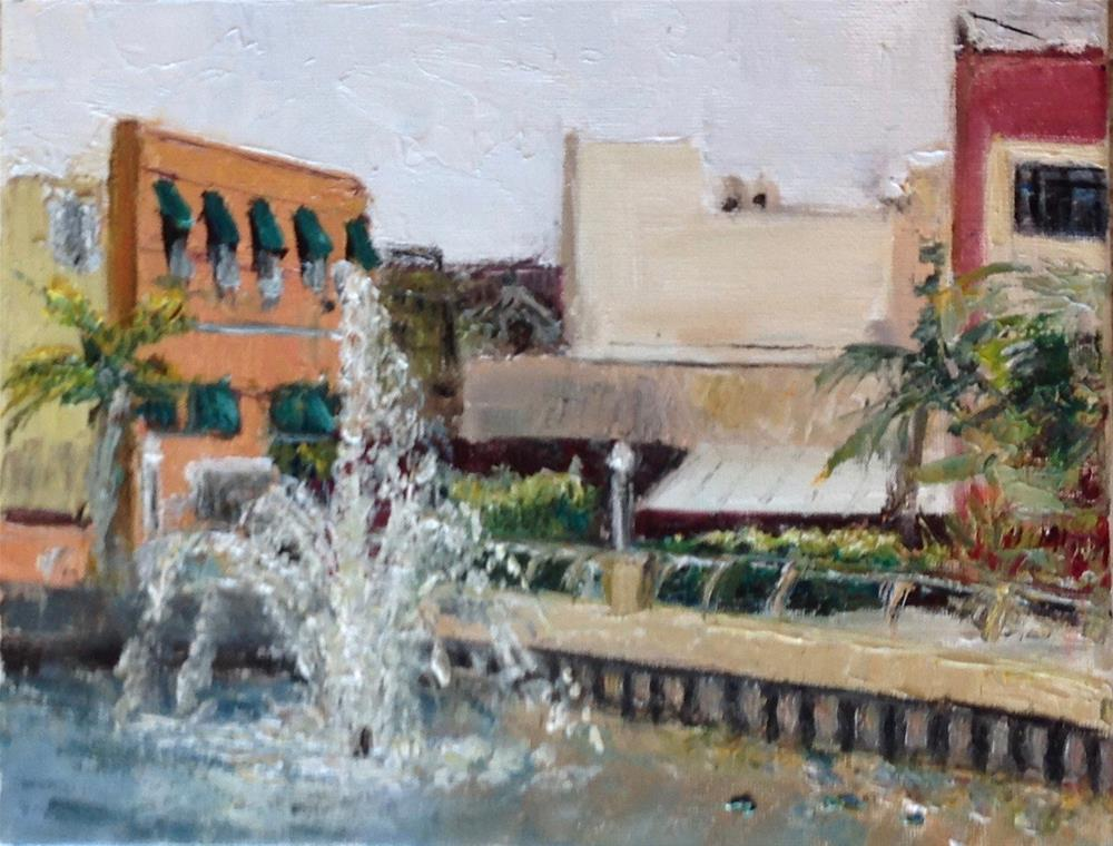 """Fountain View Ft. Myers, Fl."" original fine art by Judy Usavage"