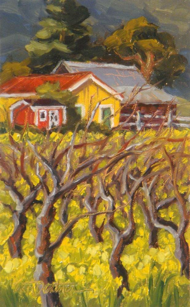 """""""Mustard in March"""" original fine art by Erin Dertner"""