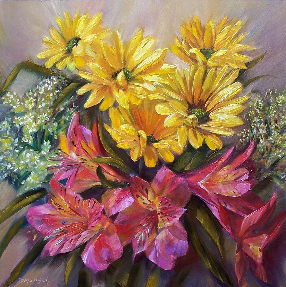 """""""April Bouquet"""" original fine art by Donna Munsch"""