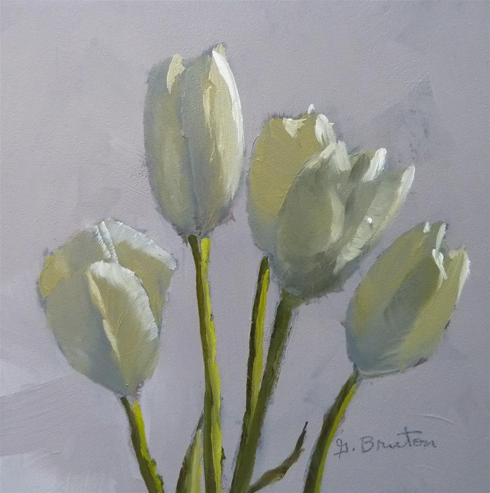 """Cream Tulips"" original fine art by Gary Bruton"