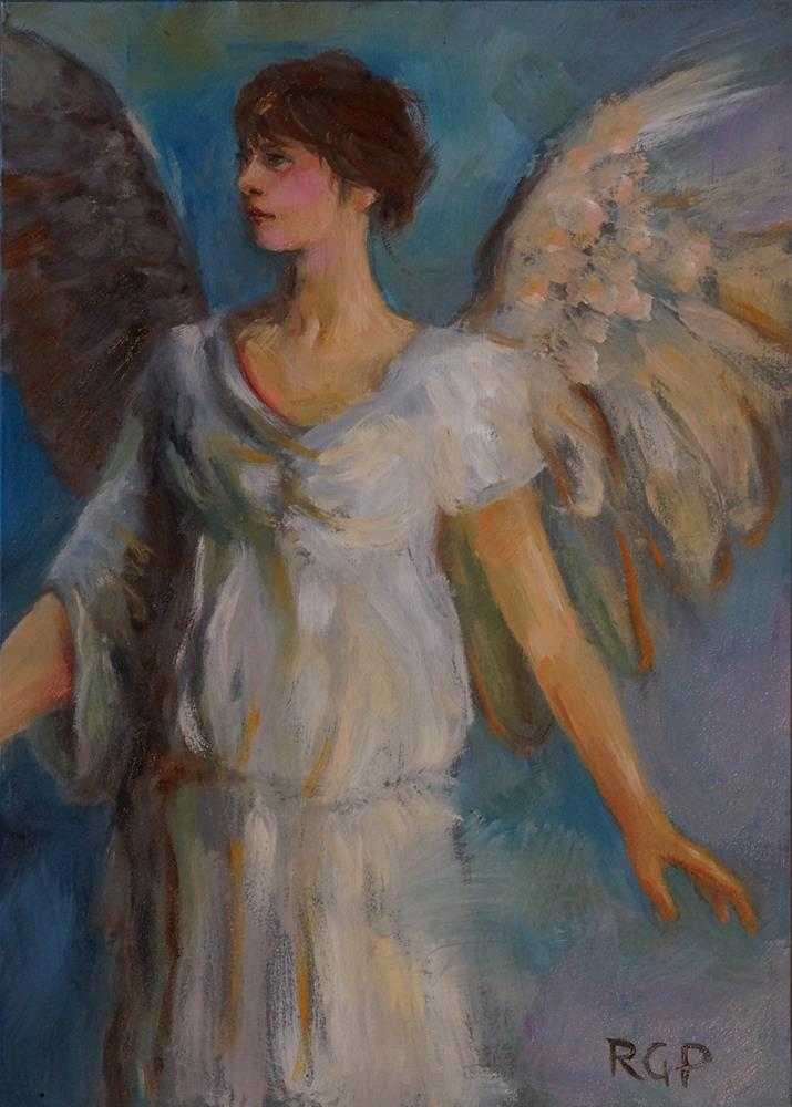 """Angel – After Thayer"" original fine art by Rhea  Groepper Pettit"