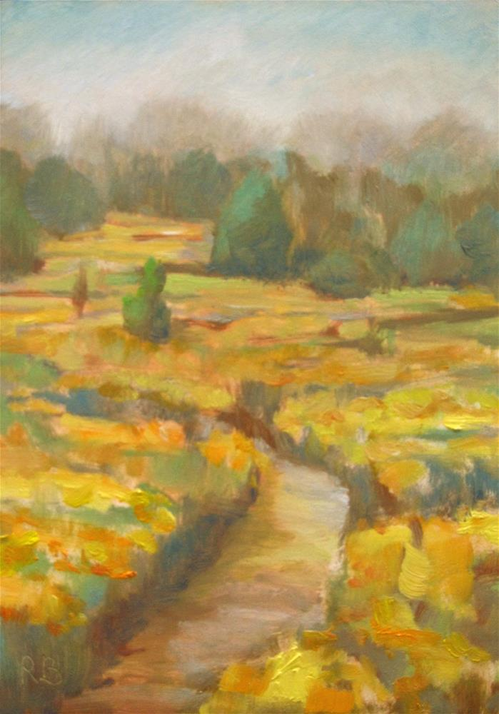 """Path in the Golden Field"" original fine art by Robie Benve"