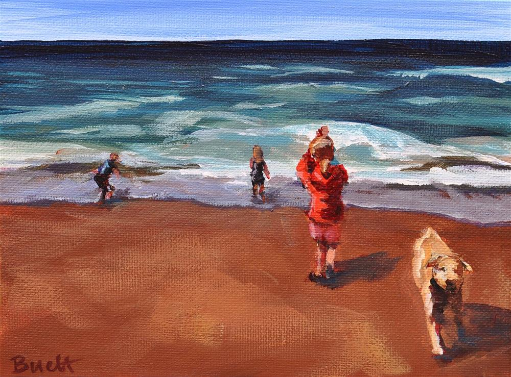 """Family Beach Day"" original fine art by Shari Buelt"